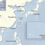In 2012, there was daily news about tensions between China and Japan over the Senkaku/Diaoyu islands, a string of extremely small islands and rock formations in the East China Sea. This map and larger interactive feature (http://www.voanews.com/content/article/1516744.html) was created for VOA language services to translate and use with their coverage. Utilized Inkscape, Adobe Illustrator and RaphaelJS.