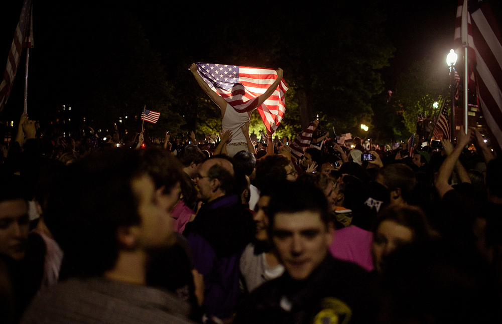 Crowds gather in D.C. the night of Osama Bin Laden